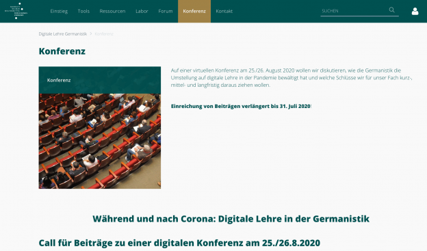 "Konferenz ""Digitale Lehre Germanistik"" (2020)"